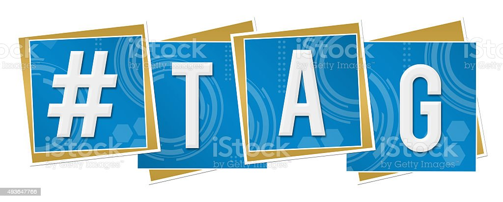 Hash Tag Technical Squares stock photo