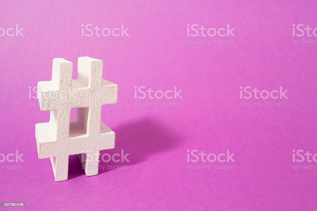 Hashtag. Conceptual image, place your next word or advertising. stock photo
