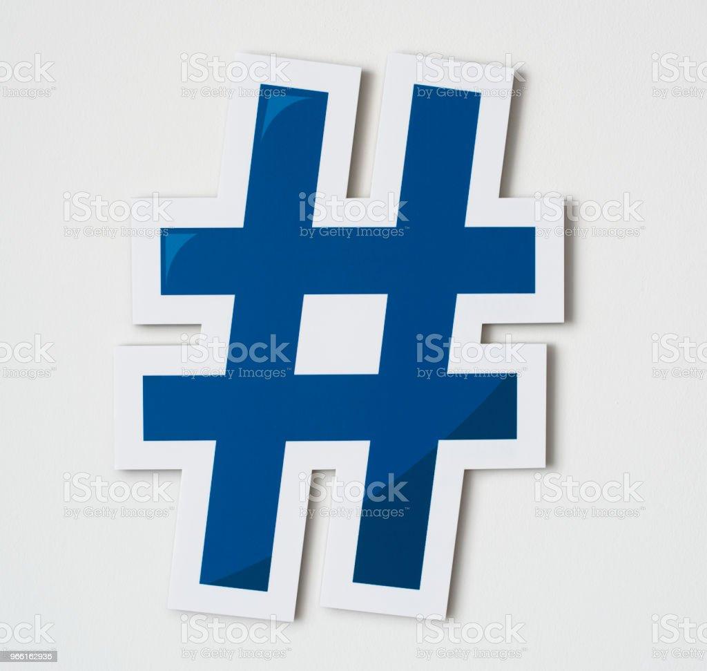Hashtag online digitala medier ikon - Royaltyfri Blogga Bildbanksbilder