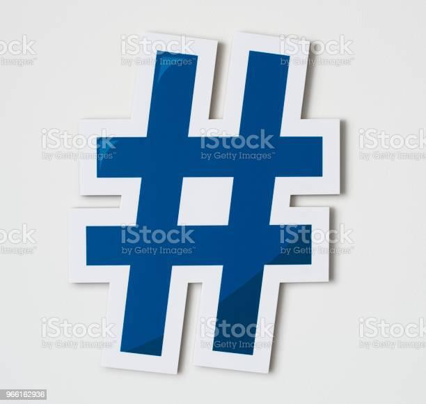 Hashtag Online Digital Media Icon — стоковые фотографии и другие картинки Ведение блога