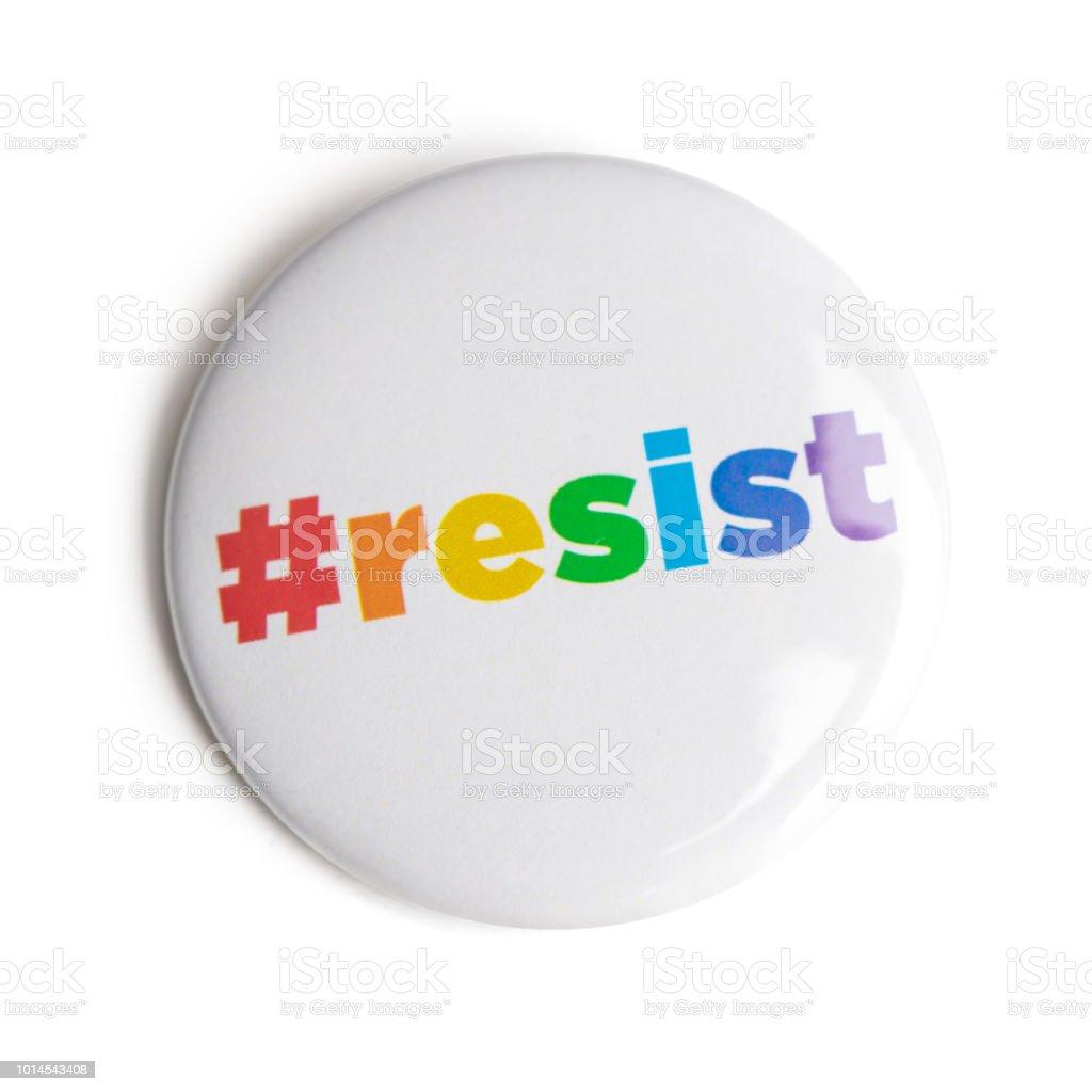 hashtag resist button stock photo