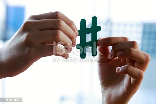 Hand Showing Hashtag