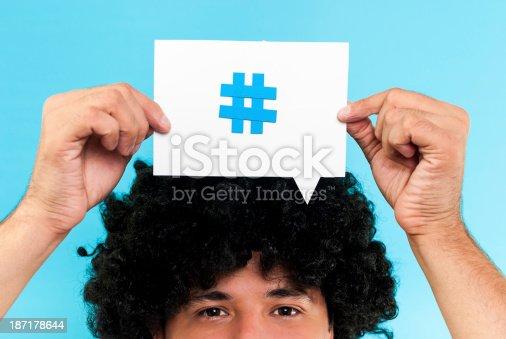 Hashtag to follow concept