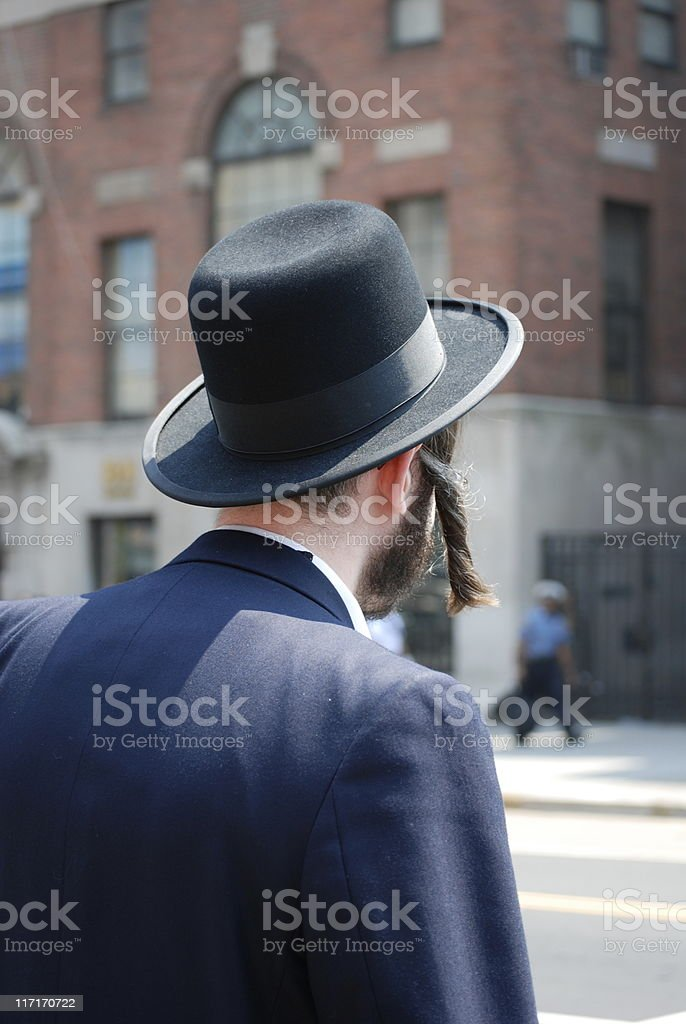 Hasidic Jew stock photo
