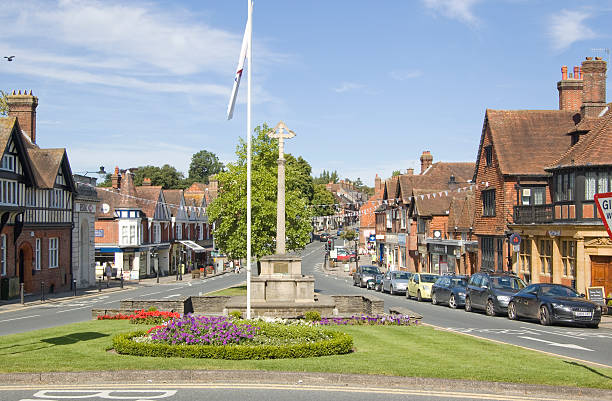 Haslemere Town Centre, Surrey stock photo