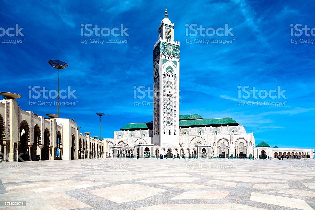 Hassan II Mosque, Casablanca stock photo