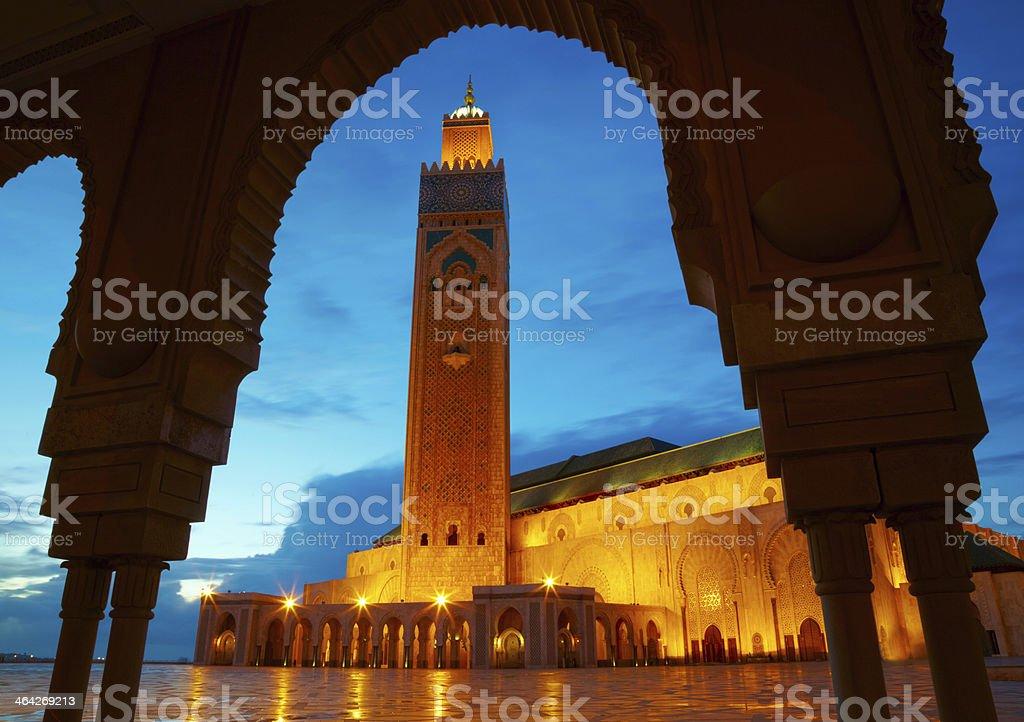 Hassan II Mosque in Casablanca, Morocco, Africa stock photo