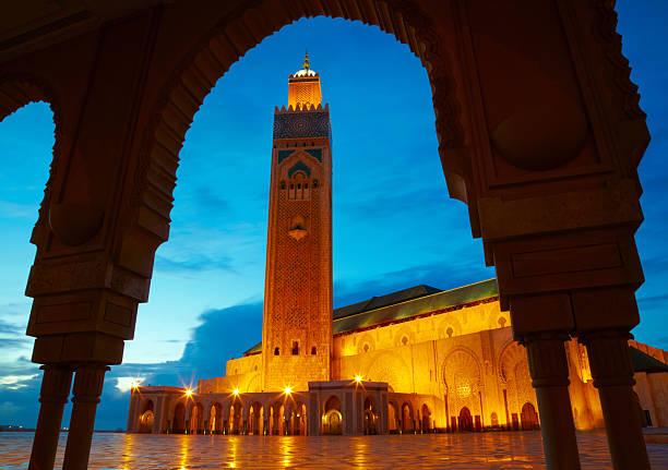 Mezquita de Hassan II en Casablanca, Marruecos Africa - foto de stock