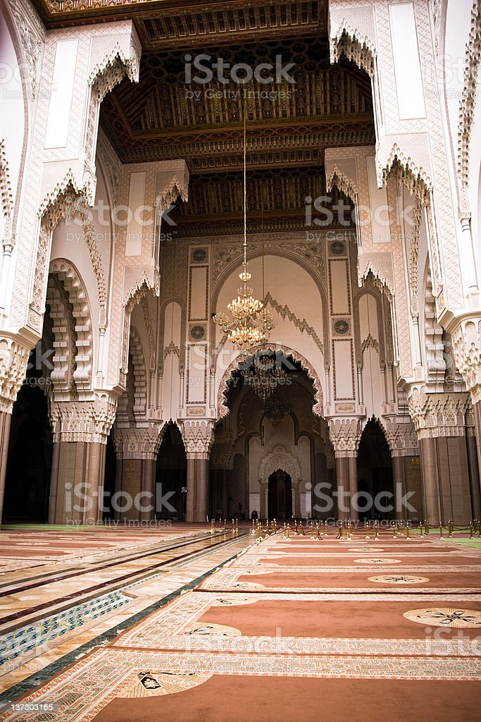 Hassan II Mosque in Casablanca, Morocco Architecture royalty-free stock photo