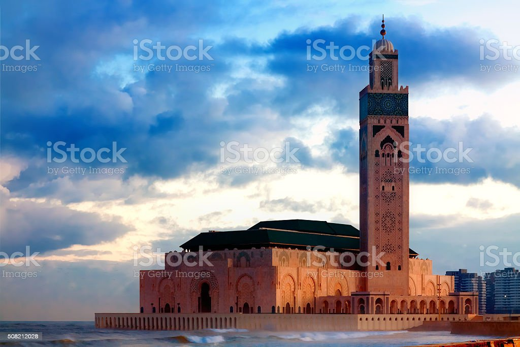 Hassan II Mosque in Casablanca, Morocco - Royalty-free Decoration Stock Photo