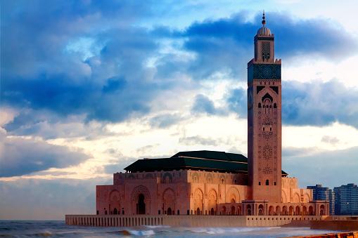 Hassan Ii Mosque In Casablanca Morocco Stock Photo - Download Image Now