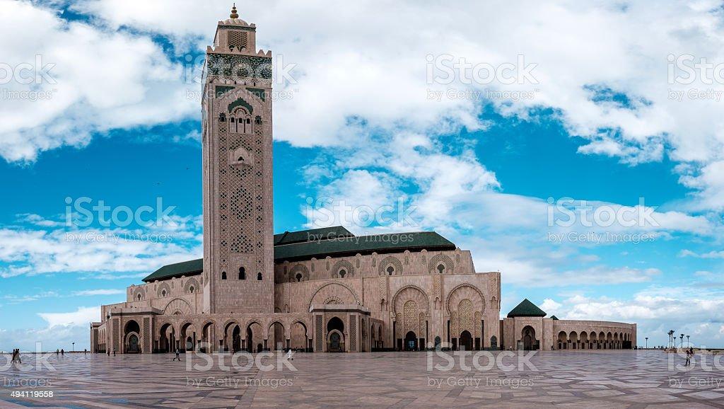 Hassan II Mosque in Casablanca stock photo