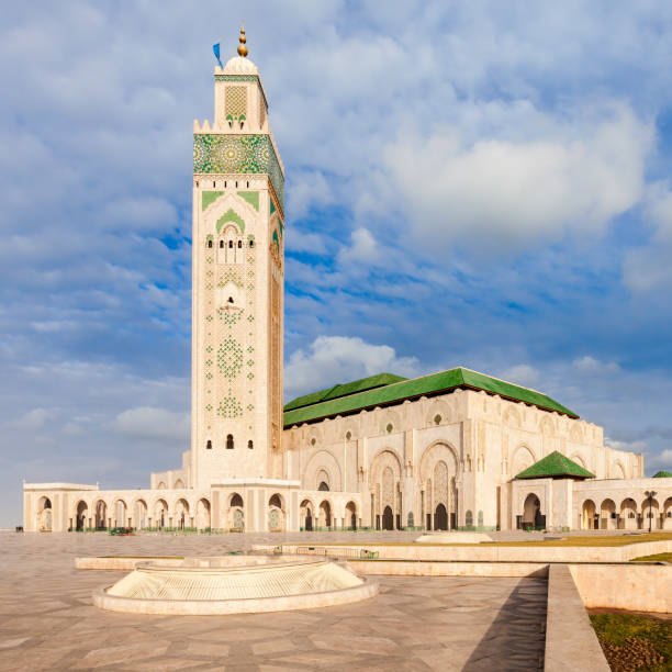 Hassan II Mosque The Hassan II Mosque is a mosque in Casablanca, Morocco. Hassan II Mosque is the largest mosque in Morocco and one of the most beautiful. minaret stock pictures, royalty-free photos & images