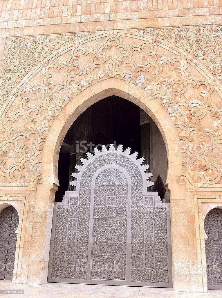 II Hassan Mosque Gate stock photo