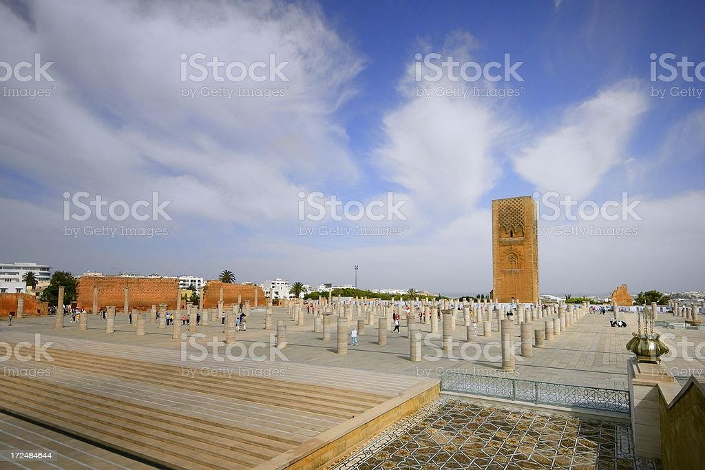 Hassan Tower And Plaza royalty-free stock photo