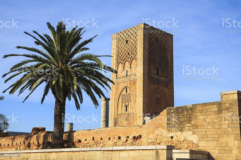 Hassan tower in rabat, morocco stock photo