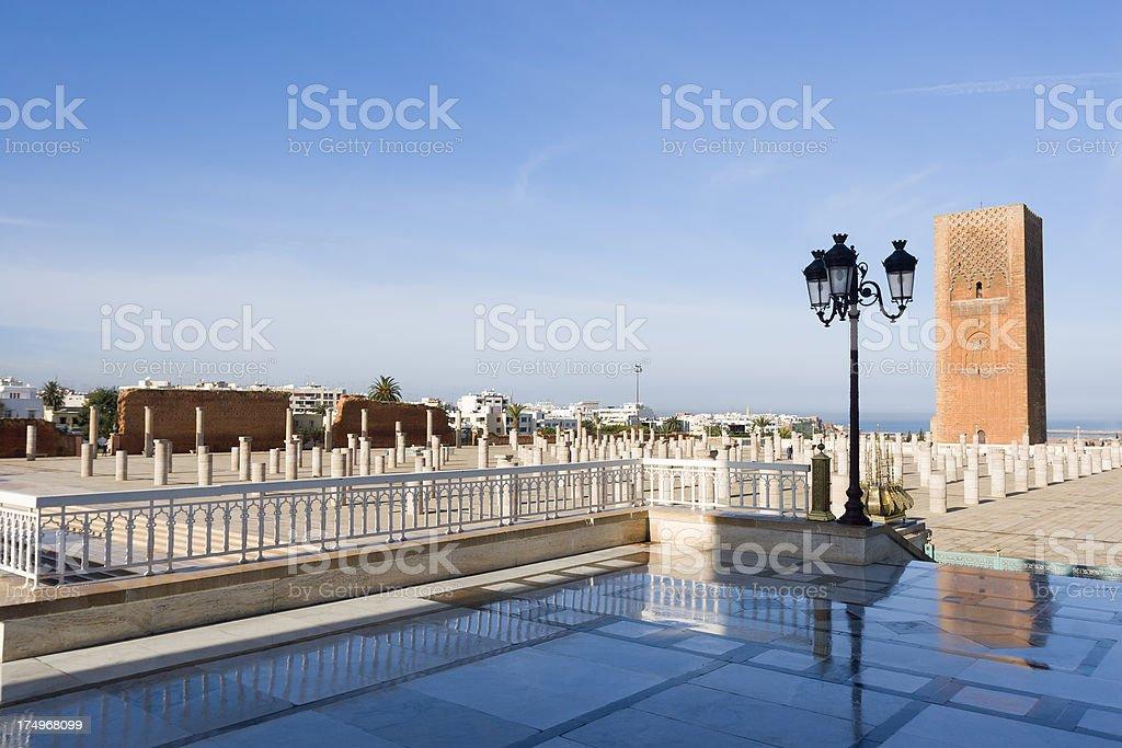 Hassan tower stock photo