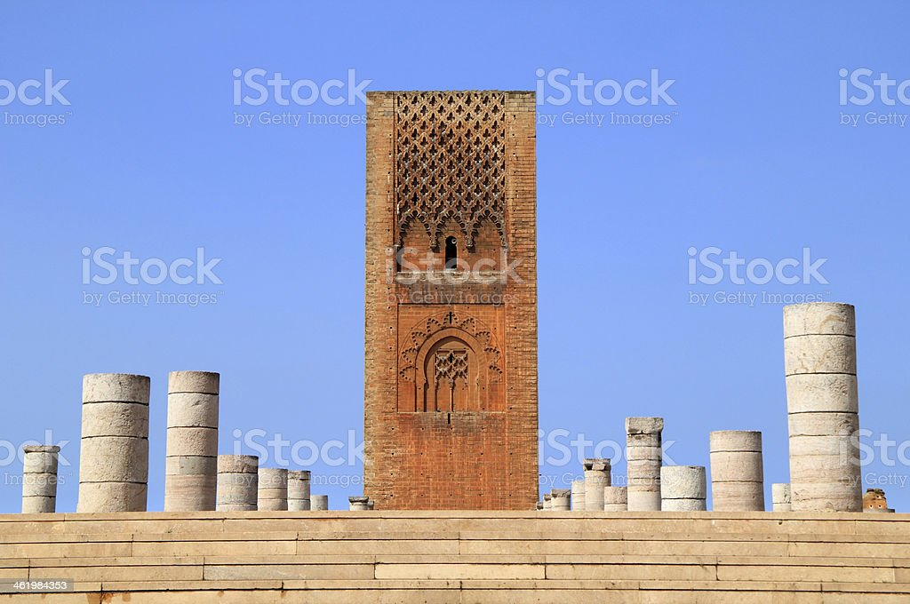 Hassan Tower, Rabat, Morocco. stock photo