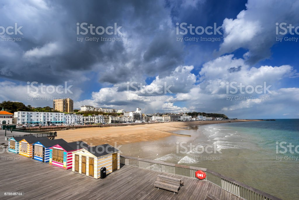 Hastings beach and pier stock photo