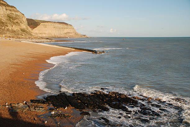 Hastings beach, England stock photo