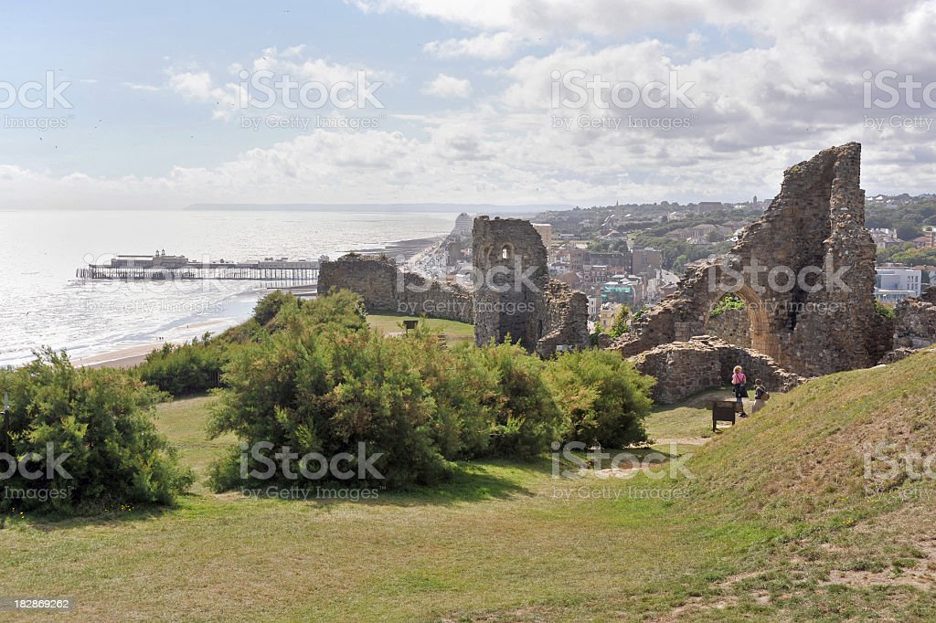 Hastings Castle stock photo