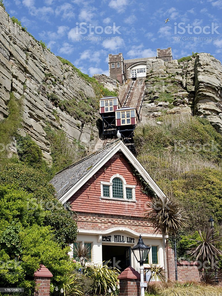 Hastings East Hill Funicular royalty-free stock photo