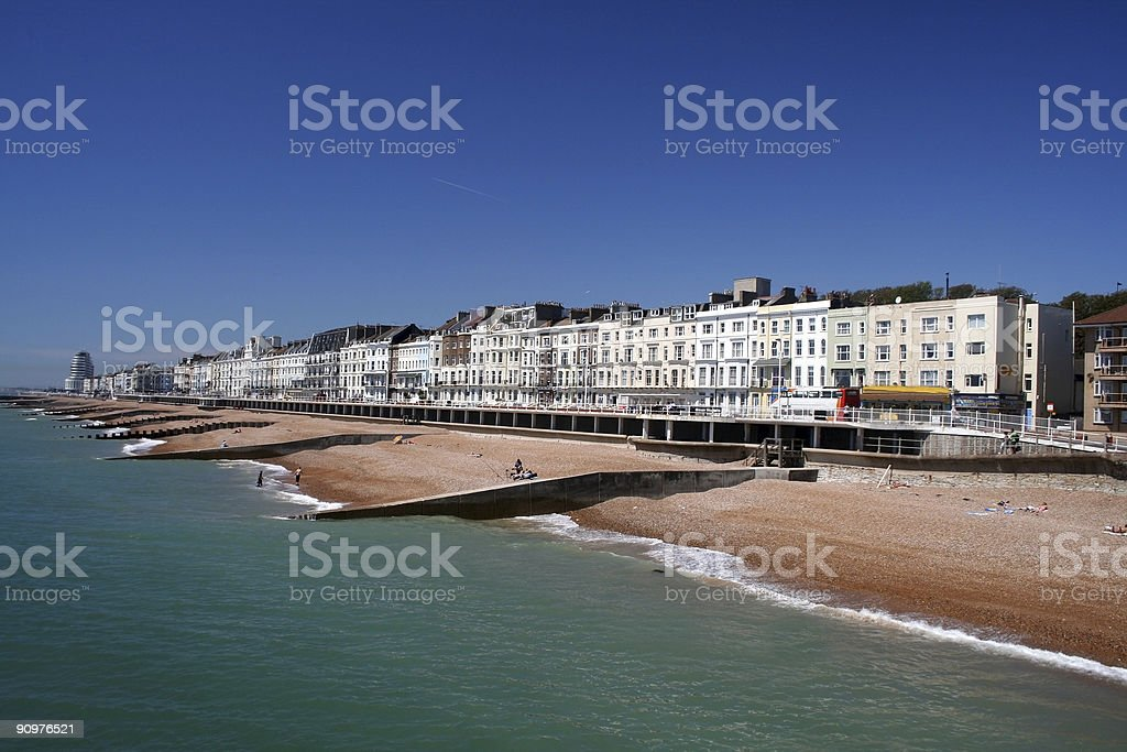 Hastings in East Sussex, England stock photo