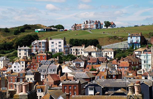 Hastings Old Town, England stock photo