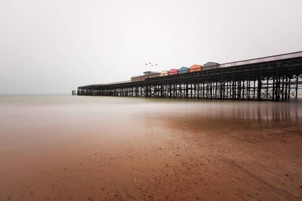 Hastings Pier in Winter stock photo