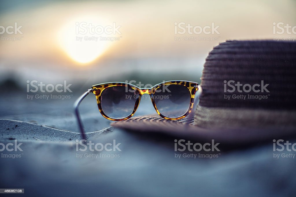 Hat and glasses royalty-free stock photo
