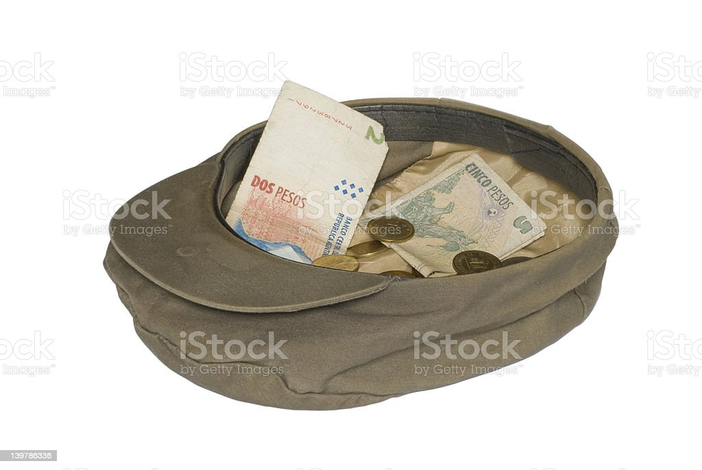Hat and money stock photo