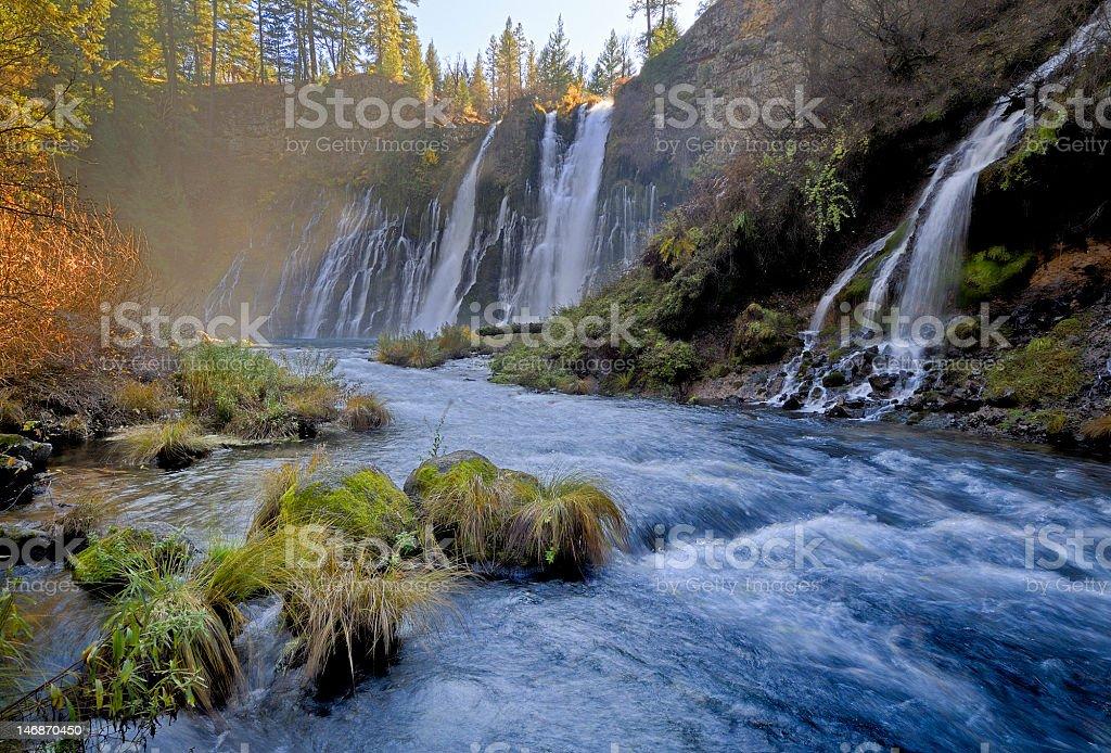 Hat Creek below tbe Burney Falls, Northern California royalty-free stock photo