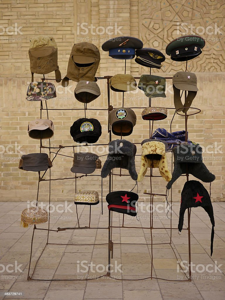 Hat fashion in Buchara royalty-free stock photo