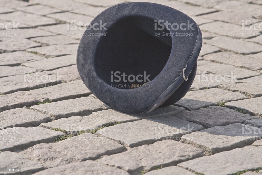 Hat in the street royalty-free stock photo
