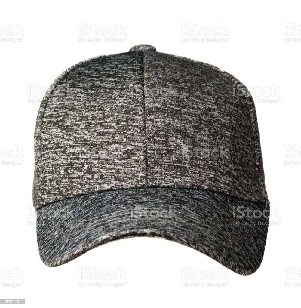 hat isolated on white background. Hat with a visor .gray hat stock photo
