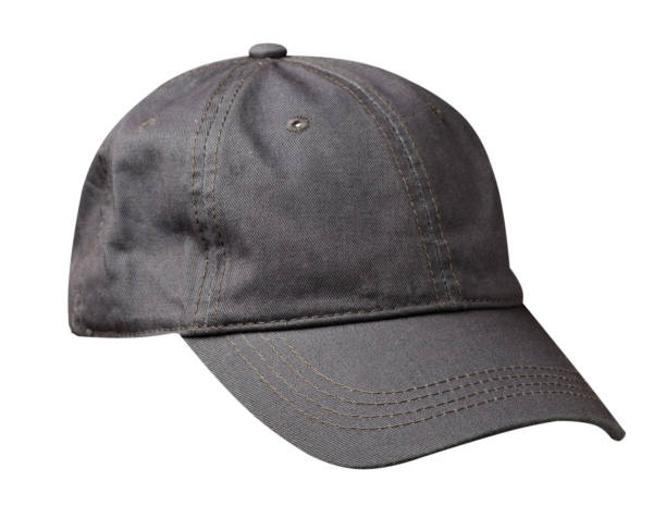 hat isolated on white background. Hat with a visor.gray hat stock photo