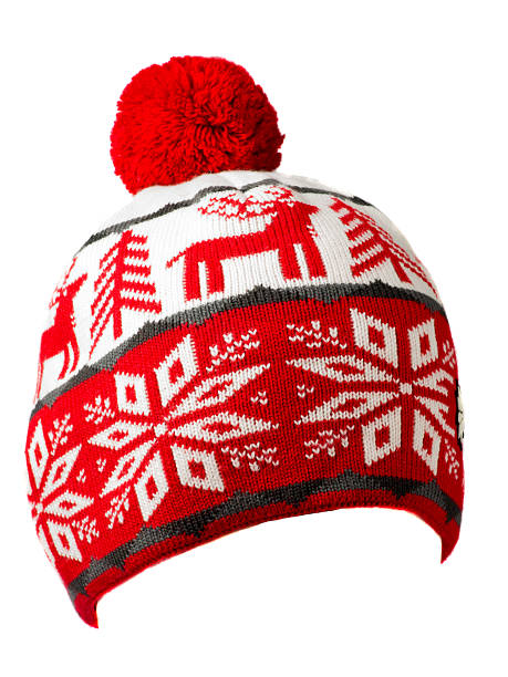 13304f4381e hat isolated on white background .knitted hat . stock photo