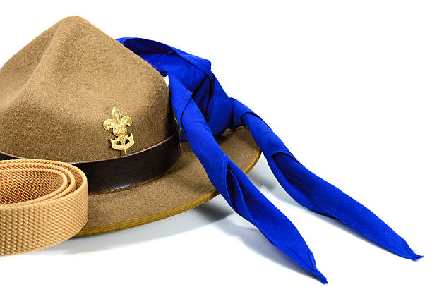 sombrero de explorador - boy scout fotografías e imágenes de stock