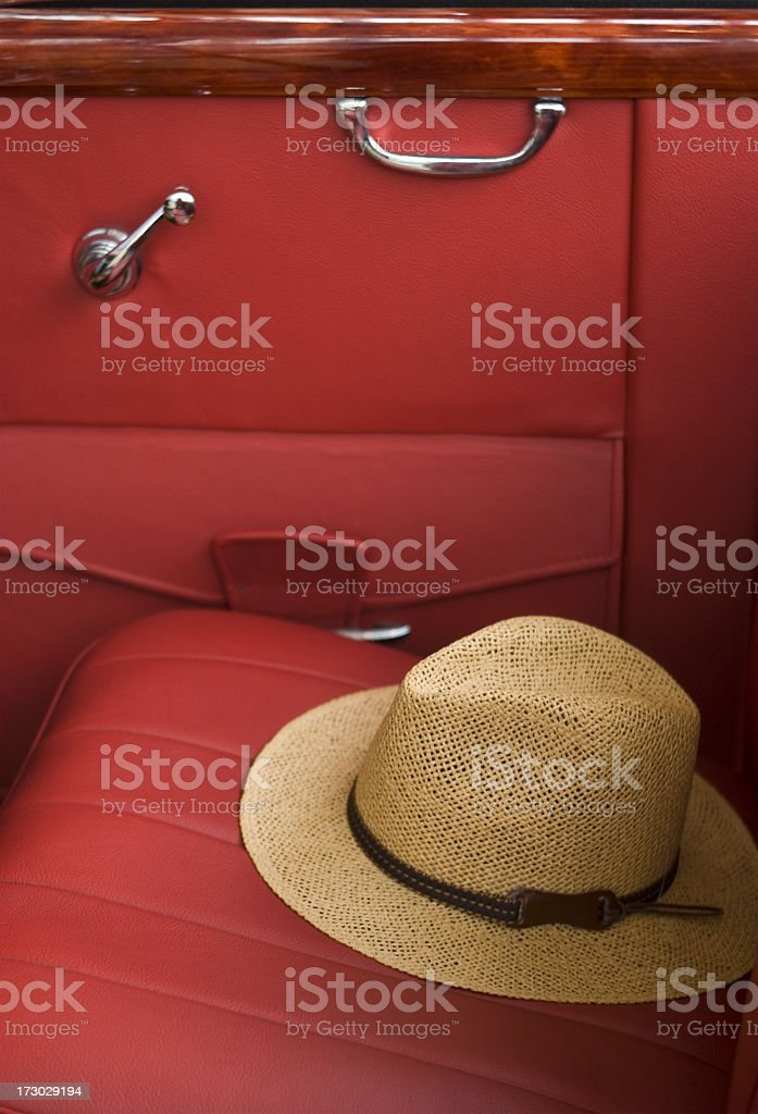 Hat on seat stock photo