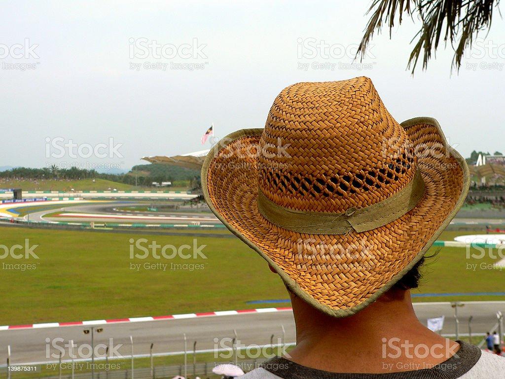 Hat on Spectator royalty-free stock photo