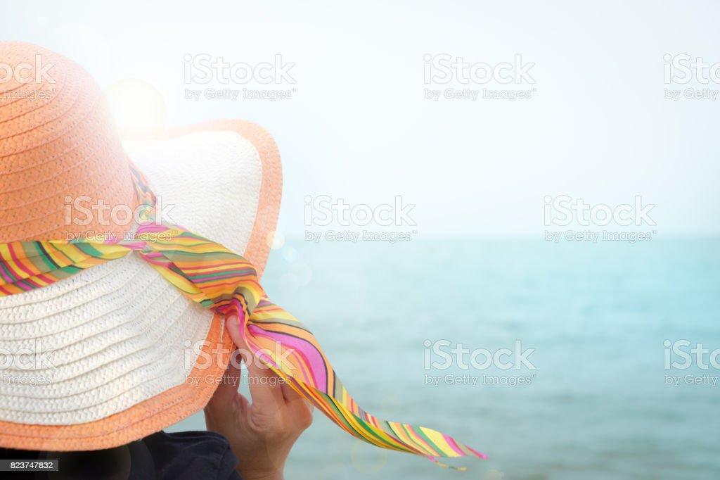 hat sea stock photo