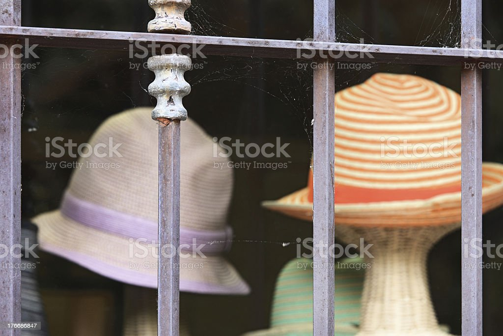 Hat Shop Fashion Headwear Retail Display royalty-free stock photo