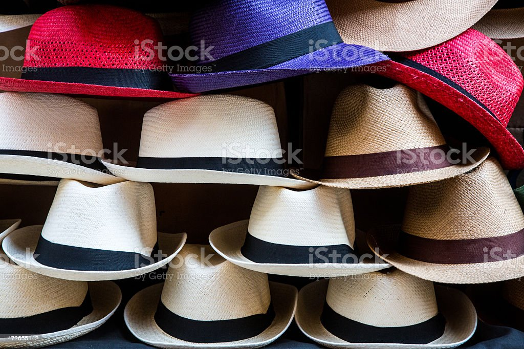 Hat Vendors stock photo