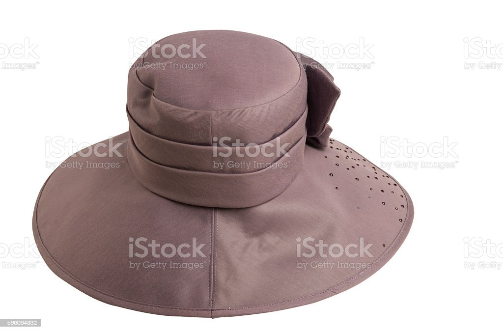 hat with a brim isolated on white royalty-free stock photo