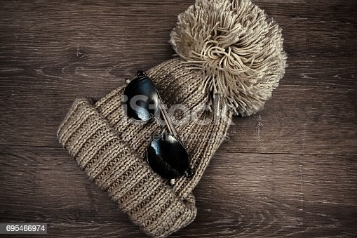 istock Hat with sunglasses 695466974