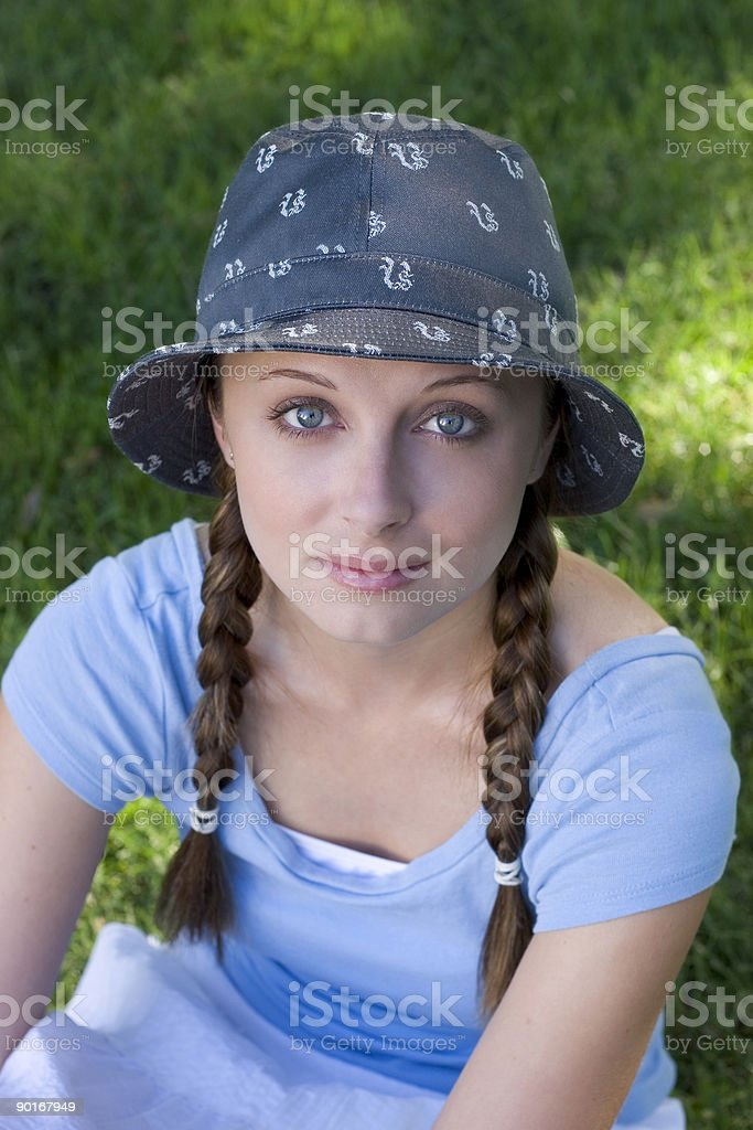 Hat Woman royalty-free stock photo