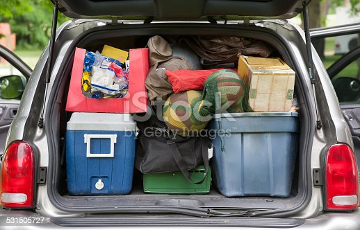 istock SUV hatchback packed for camping trip 531505727