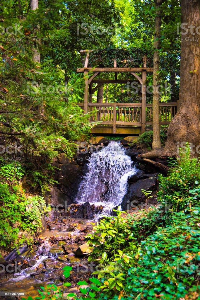 Hatcher Garden and Woodland Preserve in Spartanburg South Carolina SC stock photo