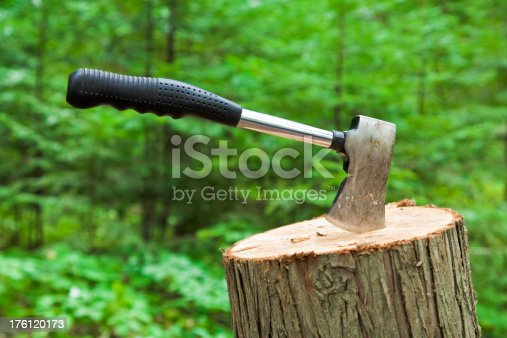 hatchet in tree stump.Check out our other great backgrounds!