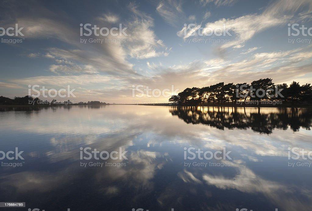 Hatchet Pond Reflections stock photo